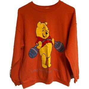 Disney Pooh Bear Orange Sweatshirt